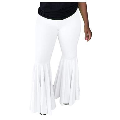 cinnamou Pantalones Mujer, Pantalones Acampanados Slim Fit ...