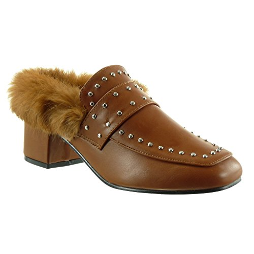 Angkorly on Clout Sabot Femme Chaussure Mode Fourrure Slip rxrpw