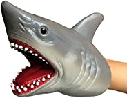KELIWOW Shark Hand Puppet Toy | Realistic Soft Rubber Shark Puppet, Bath Toy & Beach Toy for Kids Boys Gir
