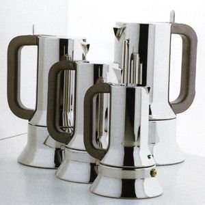 Alessi 9090/M Stovetop Richard Sapper Espresso Maker 10 Cups by Alessi