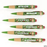1 X 12 MERRY Christmas GREETING Pens/6 Messages/HAPPY HOLIDAYS/Stocking Stuffers/OFFICE Gift/