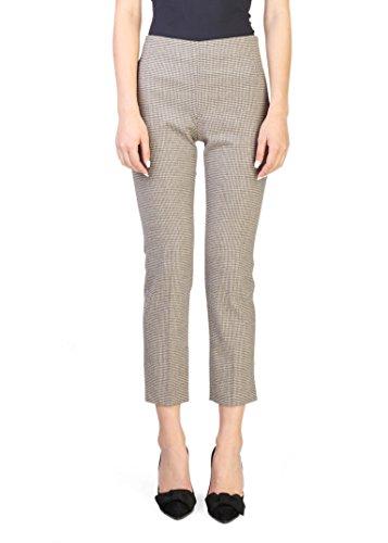 Prada Women's Virgin Wool Trouser Pants Plaid Khaki