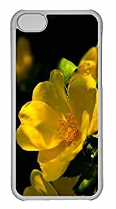 iPhone 5C Case, Personalized Custom Flower 57 for iPhone 5C PC Clear Case