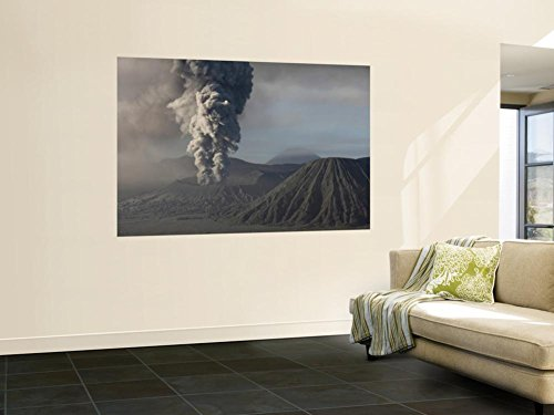 Eruption of Ash Cloud from Mount Bromo Volcano, Tengger Caldera, Java, Indonesia Wall Mural by Stocktrek Images 48 x 72in by STOCKTREK IMAGES POD