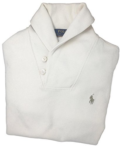 Shawl Neck (Polo Ralph Lauren Mens French Rib Shawl Neck Sweater (XX-Large, Guide Cream))