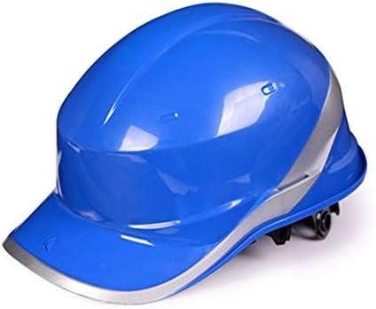 Rui Peng 安全性 ハード帽子 - 高強度ABSヘルメット工事現場のリーダーシップ洪水制御工事安全ヘルメット - 頭部保護具 - (4色) (Color : Blue)