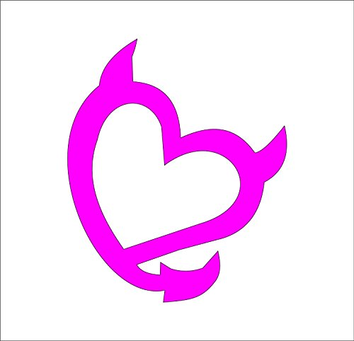 (Devil Heart Vinyl Decal - size: 5