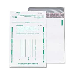 Quality Park Poly Night Deposit Bags, 8.5 x 10.5 Inches, White, Pack of 100 (45224)