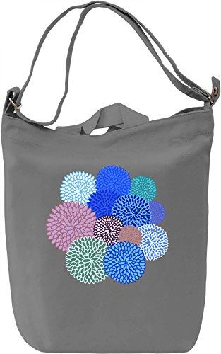 Colourful Flowers Borsa Giornaliera Canvas Canvas Day Bag| 100% Premium Cotton Canvas| DTG Printing|