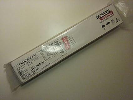Lincoln eléctrico 557442 Limarosta 316L Acero Inoxidable Stick electrodo, 2,5 mm de diámetro, 350 mm de largo, 2,7 kg Caja de cartón: Amazon.es: Industria, empresas y ciencia