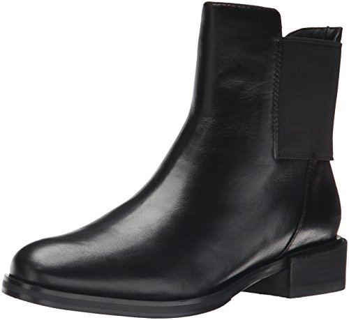 CLARKS Womens Marquette Wish Leather Closed Toe Ankle Chelsea Boots Black Leather