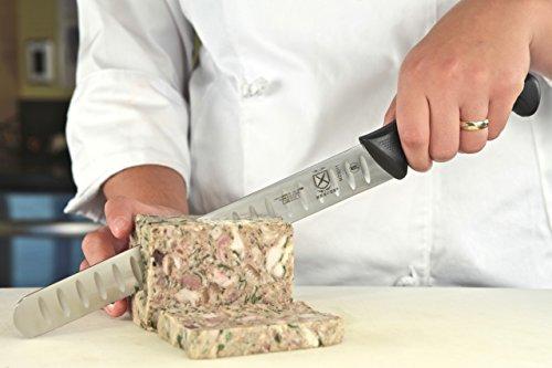 Mercer Culinary M23011 Millennia 11-Inch Granton Edge Slicer, Black