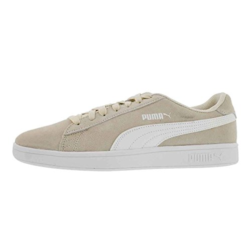 PUMA Men's Smash v2 Lace Up Fashion Sneaker Birch/Wht 9.5 M US