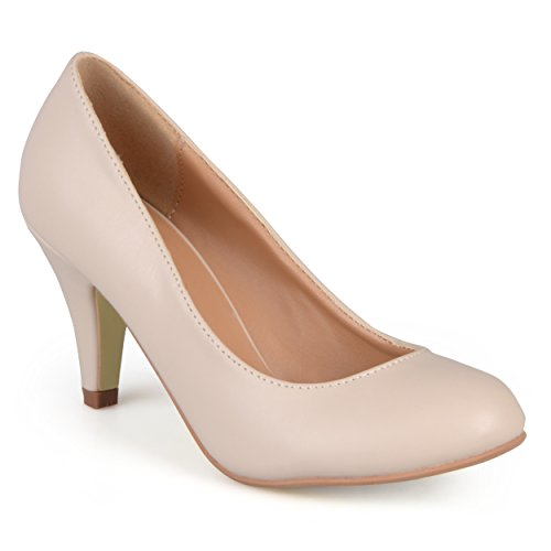 Real Collections Finish - Journee Collection Womens Matte Finish Classic Pumps Nude, 8 Regular US