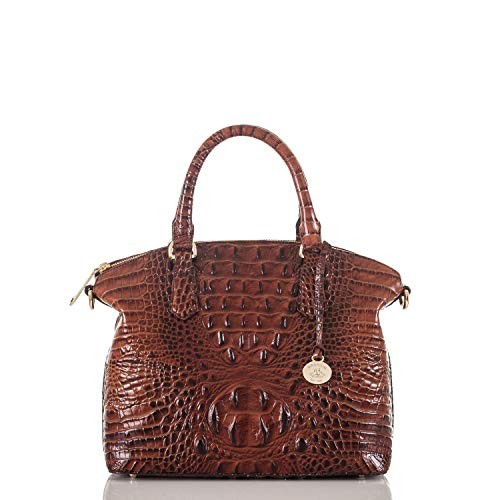 Brahmin Duxbury Satchel Convertible Top Handle Bag, Pecan, One Size from Brahmin