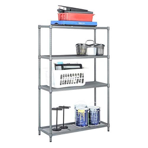 - 4 Tier Mesh Shelving Unit Storage Rack, Metal Shelf Shelves Pantry Closet Kitchen Laundry