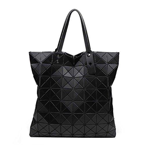 Black Sacs Ling Femmes De Pliage Géométrique Mode Mat Casual Duyangang Grille I1fvHv