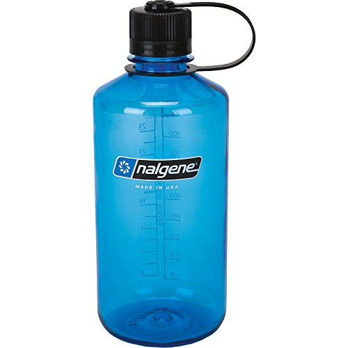 Nalgene Narrow Mouth Water Bottle, 1-Quart, Slate Blue - 32 oz