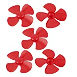 "uxcell 5 Pcs Fan Style Brushless Motor 4 Vanes RC Boat Plane Propeller 4"" Red"
