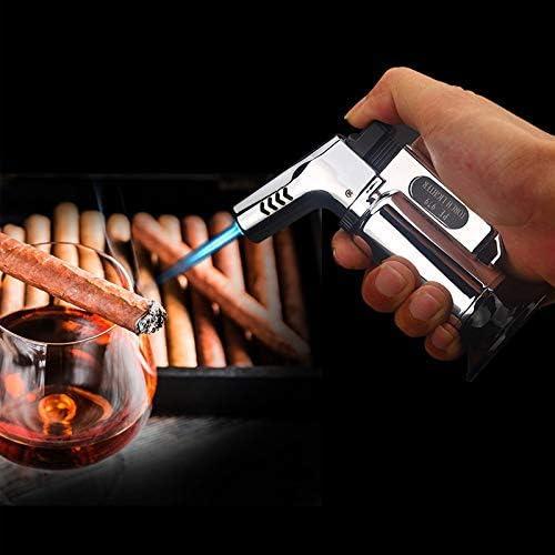BBQ Cigare Butane Briquet Torche Rechargeable Flamme R/églable avec S/écurit/é Verrou pour Cuisson Cuisine Vaugan Blow Torche