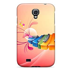 New Galaxy S4 Case Cover Casing(colorful Piano)