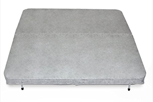 Core Covers CVR84x84GR Spa Cover, Vinyl Coastal Gray, 84'' x 84'' x 4'' by Core Covers