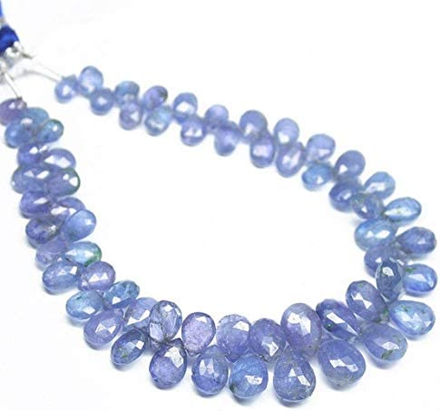 1 strand tanzanite pear drop faceted 8'' long strand gemstone beads, jewelry supplies for jewelry making, bulk beads, for meditation jewellery for Reiki Healing mystic gemstone size 6mm to 10mm