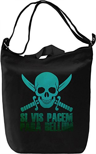 Si vis pacem para bellum Borsa Giornaliera Canvas Canvas Day Bag| 100% Premium Cotton Canvas| DTG Printing|