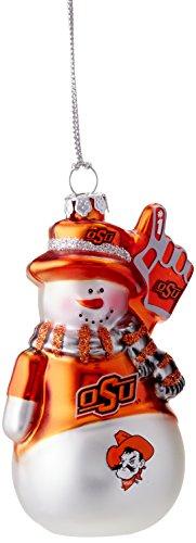 NCAA Oklahoma State Cowboys Glitter Snowman - Snowman State