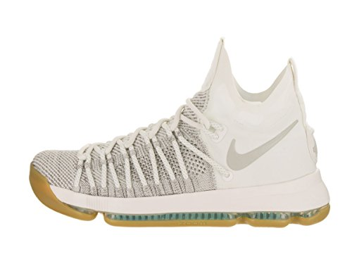 Nike Mens Zoom KD9 Elite Pale Grey/Pale Grey/Ivory Basketball Shoe 12 Men US