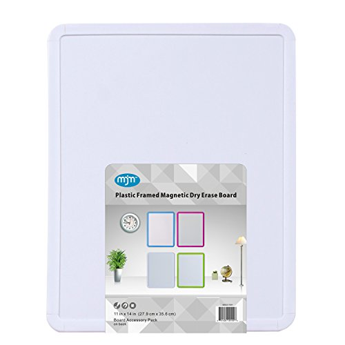 MjM Dry-Erase Board, 11 x 14 Inches, Free 4 Pack Dry Erase Markers (14 Inch Dry Erase)