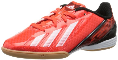 adidas F10 Indoor - Zapatos de fútbol de material sintético mujer rojo - Rot (infrared / running white ftw / black 1)