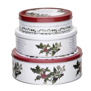 Pimpernel Holly Cardinal Cake Nesting Tins S/3 (Holly Cake)