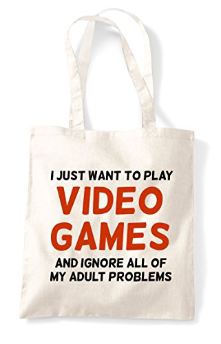Natural My Gaming Want Adult Problems Tote And Games Of Video Statement All Bag Shopper I Play Ignore Just To AxvwFUqF