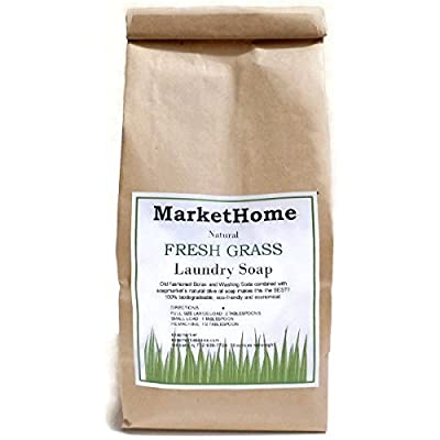 MarketHome Natural Laundry Soap - Fresh Grass - 2 One-pound Bags