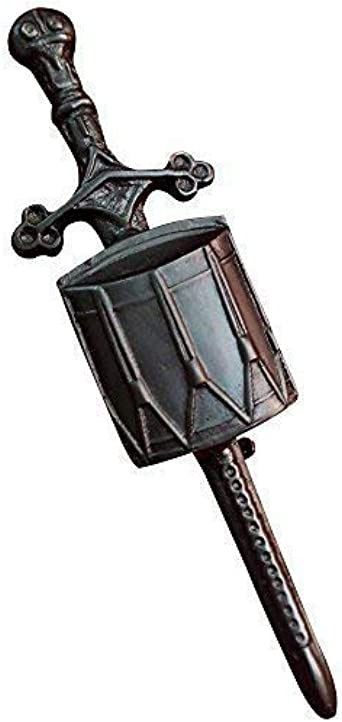 "Drum Badge TC Highland Kilt Pin Sword Drummer Black Finish 4/""//Drummer Kilt Pin"