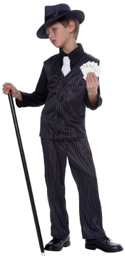 Kids Gangsta Boy Costume - Child Large (Zoot Suit Costume Tie)