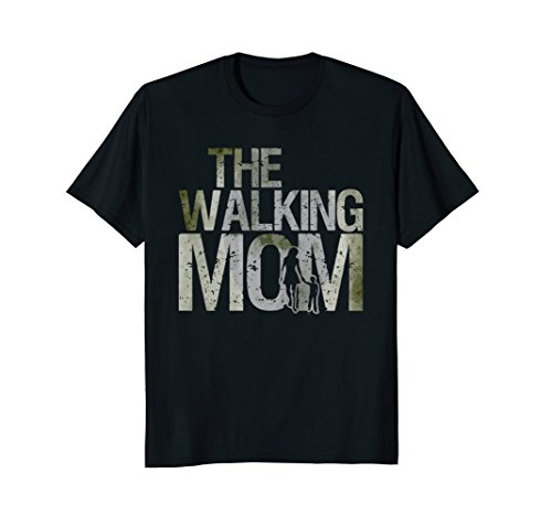 Walking Mom Shirt Zombie Woman And Kid Mother's Day Tee