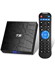 Android TV Box, T9 Android 9.0 TV Box 2GB RAM/16GB ROM RK3318 Quad-Core Support 2.4/5GHz WiFi BT4.0 4K 3D HDMI DLNA Smart TV Box