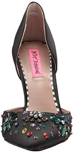 Betsey Johnson Womens Mayson Dorsay Pump Svart Satin