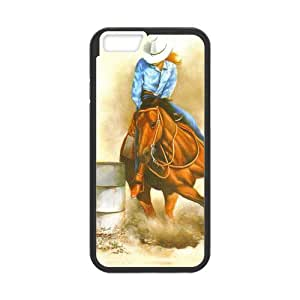 Canting_Good Barrel Racing Cowgirl Custom Case Shell Skin for iPhone6 4.7 (Laser Technology)