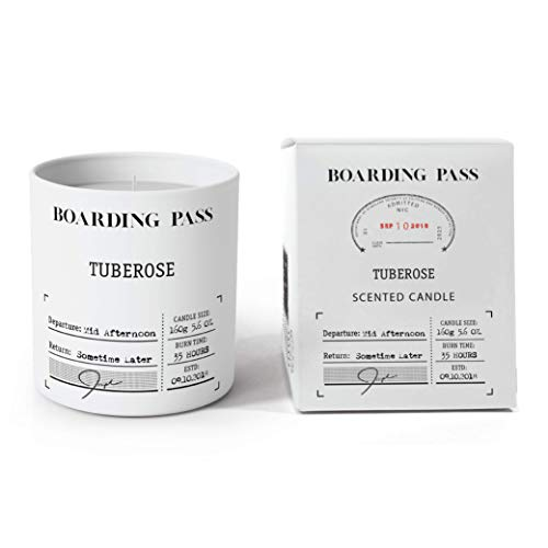 (Boarding Pass Mid Afternoon Tuberose Gardenia Orange Blossom Cedar Wood Scented Candle White 5.6oz...)