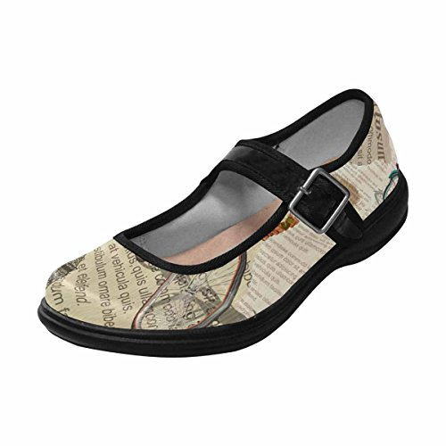InterestPrint Womens Comfort Mary Jane Flats Casual Walking Shoes Multi 9 dXd50UNW