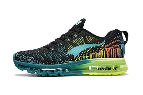 ONEMIX Men's Lightweight Air Cushion Outdoor Sport Running Shoes BlackBlue 13(M) US