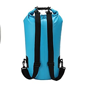 Yodo 20L Dry Bag Waterproof Roll Top Compression Sack for Beach,Kayaking,Canoeing,Fishing,Boating,Camping,Hiking, Rafting with Adjustable Shoulder Strap,Blue
