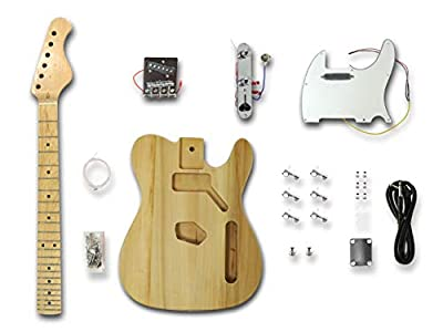 DIY Electric Guitar Kits for Telecaster Style Guitar, Solid Wood Body