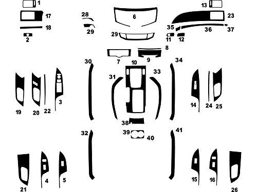 Rdash Dash Kit Decal Trim for Honda Accord 2013-2016 - Carbon Fiber 3D (Black) (Honda Accord Oem Carbon Fiber)