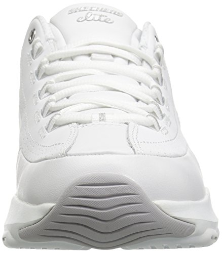 Silver Ultra Fashion Sneaker Skechers White Illusions D'Lite Women's v01xvwqZ6