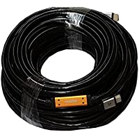 HDMI 150ft Cable with Ethernet (Black) / Pure Copper conductor & Gold plated / Pro-Grade Long Run HDMI w/ Signal Booster 3D & Audio Return / 4K Supports - WireShopper