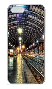 Apple iPhone 5S Case,iPhone 5S Cases - Inside A Train Station PC Custom iPhone 5S Case Cover for iPhone 5S - Transparent...